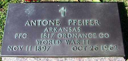 PFEIFER (VETERAN WWII), ANTONE - Yell County, Arkansas | ANTONE PFEIFER (VETERAN WWII) - Arkansas Gravestone Photos