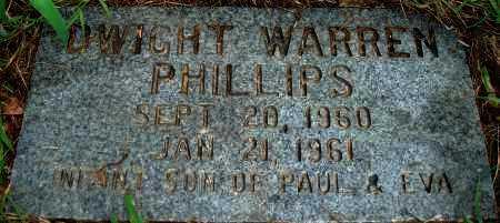 PHILLIPS, DWIGHT WARREN - Yell County, Arkansas   DWIGHT WARREN PHILLIPS - Arkansas Gravestone Photos