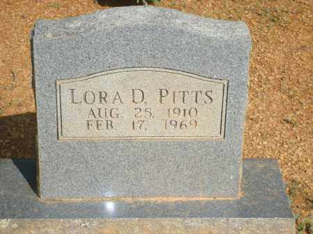 PITTS, LORA D - Yell County, Arkansas   LORA D PITTS - Arkansas Gravestone Photos