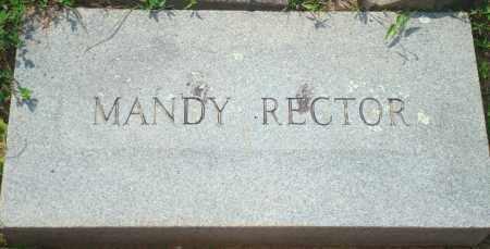 RECTOR, MANDY - Yell County, Arkansas | MANDY RECTOR - Arkansas Gravestone Photos