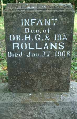 ROLLANS, INFANT DAUGHTER - Yell County, Arkansas | INFANT DAUGHTER ROLLANS - Arkansas Gravestone Photos