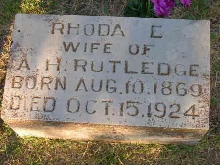RUTLEDGE, RHODA E - Yell County, Arkansas   RHODA E RUTLEDGE - Arkansas Gravestone Photos