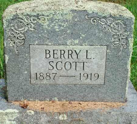 SCOTT, BERRY L - Yell County, Arkansas | BERRY L SCOTT - Arkansas Gravestone Photos