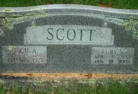 SCOTT, CECIL A - Yell County, Arkansas | CECIL A SCOTT - Arkansas Gravestone Photos