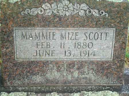 SCOTT MIZE, MAMMIE - Yell County, Arkansas | MAMMIE SCOTT MIZE - Arkansas Gravestone Photos