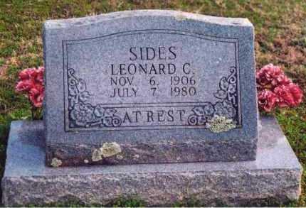 SIDES, LEONARD C - Yell County, Arkansas   LEONARD C SIDES - Arkansas Gravestone Photos