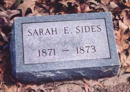 SIDES, SARAH E. - Yell County, Arkansas   SARAH E. SIDES - Arkansas Gravestone Photos