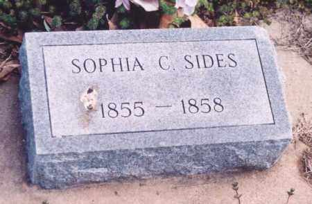 SIDES, SOPHIA C. - Yell County, Arkansas   SOPHIA C. SIDES - Arkansas Gravestone Photos