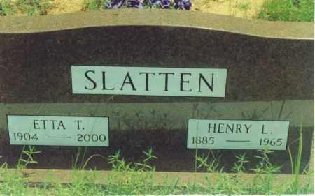 SLATTEN, HENRY LEVI - Yell County, Arkansas | HENRY LEVI SLATTEN - Arkansas Gravestone Photos