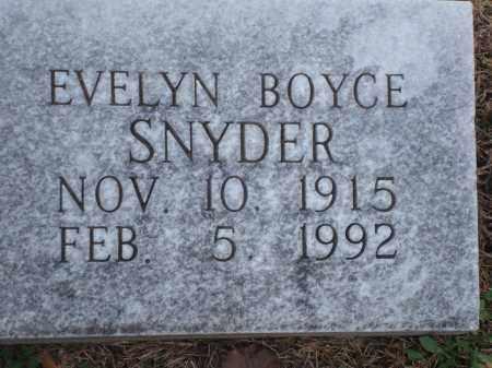 BOYCE SNYDER, EVELYN - Yell County, Arkansas | EVELYN BOYCE SNYDER - Arkansas Gravestone Photos