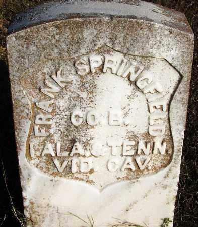 SPRINGFIELD (VETERAN UNION), FRANK - Yell County, Arkansas | FRANK SPRINGFIELD (VETERAN UNION) - Arkansas Gravestone Photos