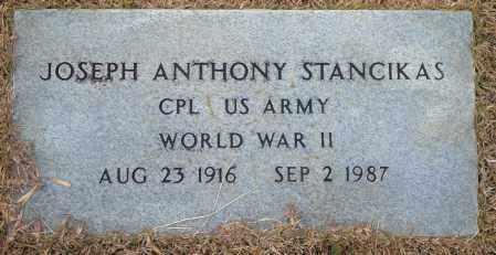 STANCIKAS (VETERAN WWII), JOSEPH ANTHONY - Yell County, Arkansas | JOSEPH ANTHONY STANCIKAS (VETERAN WWII) - Arkansas Gravestone Photos
