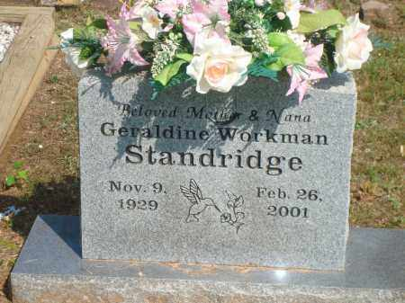 WORKMAN STANDRIDGE, GERALDINE - Yell County, Arkansas | GERALDINE WORKMAN STANDRIDGE - Arkansas Gravestone Photos