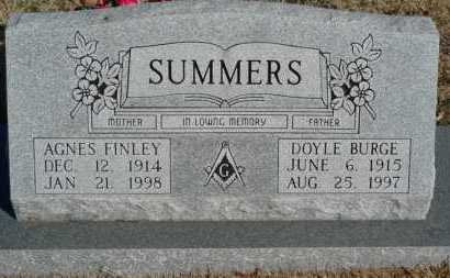 SUMMERS, DOYLE BURGE - Yell County, Arkansas | DOYLE BURGE SUMMERS - Arkansas Gravestone Photos