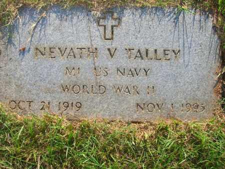 TALLEY (VETERAN WWII), NEVATH V - Yell County, Arkansas | NEVATH V TALLEY (VETERAN WWII) - Arkansas Gravestone Photos