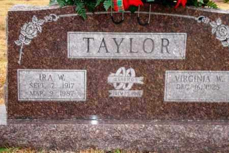 TAYLOR, IRA W. - Yell County, Arkansas | IRA W. TAYLOR - Arkansas Gravestone Photos