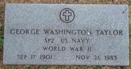 TAYLOR (VETERAN WWII), GEORGE WASHINGTON - Yell County, Arkansas   GEORGE WASHINGTON TAYLOR (VETERAN WWII) - Arkansas Gravestone Photos