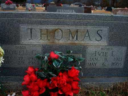 THOMAS, IVIE L. - Yell County, Arkansas   IVIE L. THOMAS - Arkansas Gravestone Photos