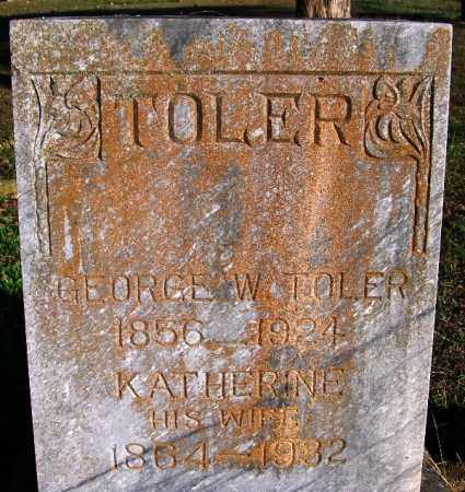 TOLER, KATHERINE - Yell County, Arkansas | KATHERINE TOLER - Arkansas Gravestone Photos
