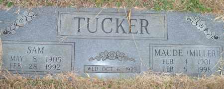 TUCKER, SAM (FOOTSTONE) - Yell County, Arkansas   SAM (FOOTSTONE) TUCKER - Arkansas Gravestone Photos