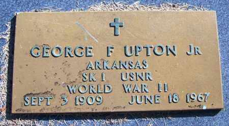 UPTON, JR. (VETERAN WWII), GEORGE F - Yell County, Arkansas | GEORGE F UPTON, JR. (VETERAN WWII) - Arkansas Gravestone Photos