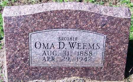 WEEMS, OMA D - Yell County, Arkansas   OMA D WEEMS - Arkansas Gravestone Photos