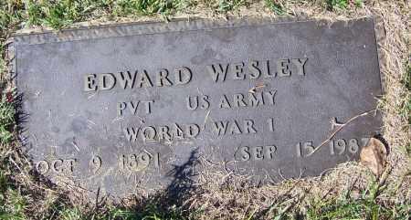 WESLEY (VETERAN WWI), EDWARD - Yell County, Arkansas | EDWARD WESLEY (VETERAN WWI) - Arkansas Gravestone Photos
