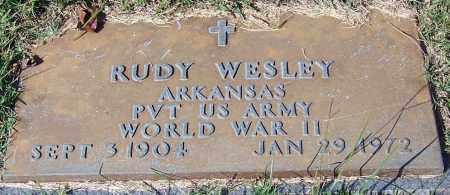 WESLEY (VETERAN WWII), RUDY - Yell County, Arkansas | RUDY WESLEY (VETERAN WWII) - Arkansas Gravestone Photos