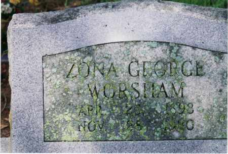 WORSHAM, ZONA A. - Yell County, Arkansas | ZONA A. WORSHAM - Arkansas Gravestone Photos
