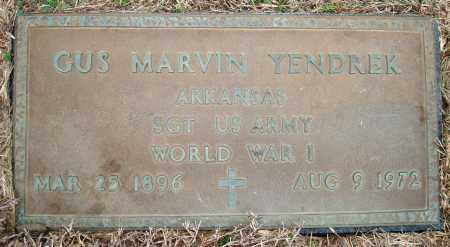 YENDREK (VETERAN WWI), GUS MARVIN - Yell County, Arkansas | GUS MARVIN YENDREK (VETERAN WWI) - Arkansas Gravestone Photos