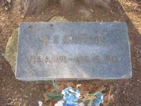 ANDERSON, W L - Arkansas County, Arkansas   W L ANDERSON - Arkansas Gravestone Photos