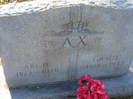 AX, ARCHIBALD FREDERICK - Arkansas County, Arkansas | ARCHIBALD FREDERICK AX - Arkansas Gravestone Photos