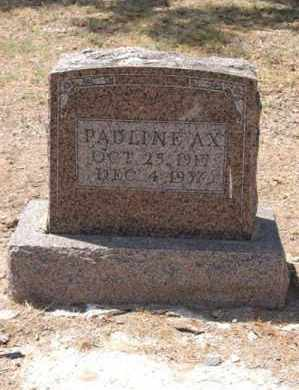 AX, PAULINE - Arkansas County, Arkansas | PAULINE AX - Arkansas Gravestone Photos