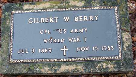 BERRY (VETERAN WWI), GILBERT W - Arkansas County, Arkansas | GILBERT W BERRY (VETERAN WWI) - Arkansas Gravestone Photos