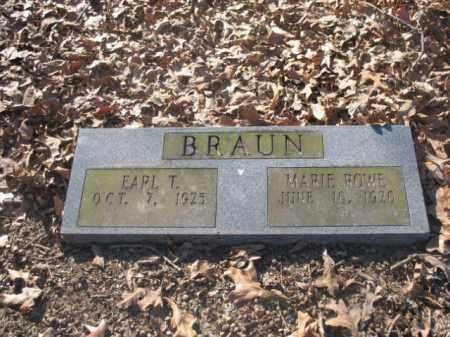 BRAUN, EARL T - Arkansas County, Arkansas | EARL T BRAUN - Arkansas Gravestone Photos
