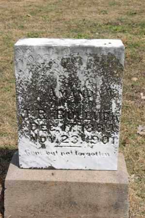 BULLOCK, AMANDA - Arkansas County, Arkansas | AMANDA BULLOCK - Arkansas Gravestone Photos