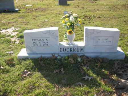 COCKRUM, ANNIE FAYE - Arkansas County, Arkansas | ANNIE FAYE COCKRUM - Arkansas Gravestone Photos