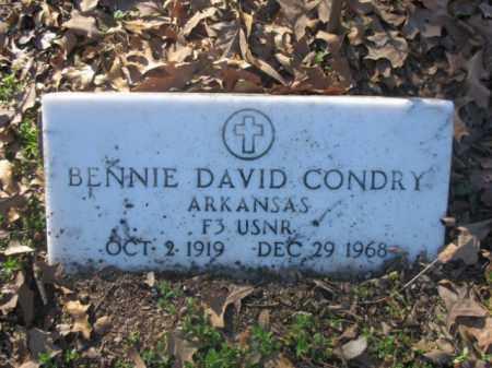 CONDRY (VETERAN), BENNIE DAVID - Arkansas County, Arkansas | BENNIE DAVID CONDRY (VETERAN) - Arkansas Gravestone Photos