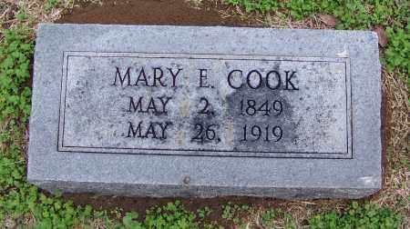 COOK, MARY E - Arkansas County, Arkansas | MARY E COOK - Arkansas Gravestone Photos