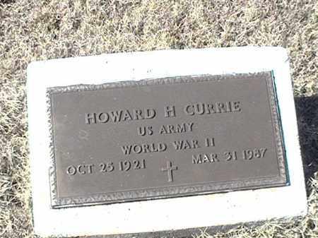 CURRIE (VETERAN WWII), HOWARD H - Arkansas County, Arkansas | HOWARD H CURRIE (VETERAN WWII) - Arkansas Gravestone Photos