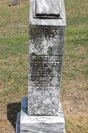 DAVENPORT, MARTIN U - Arkansas County, Arkansas | MARTIN U DAVENPORT - Arkansas Gravestone Photos