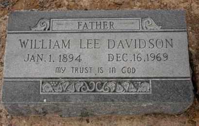 DAVIDSON, WILLIAM LEE - Arkansas County, Arkansas   WILLIAM LEE DAVIDSON - Arkansas Gravestone Photos