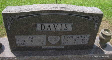 SLOATE DAVIS, LIZZIE MAE - Arkansas County, Arkansas | LIZZIE MAE SLOATE DAVIS - Arkansas Gravestone Photos