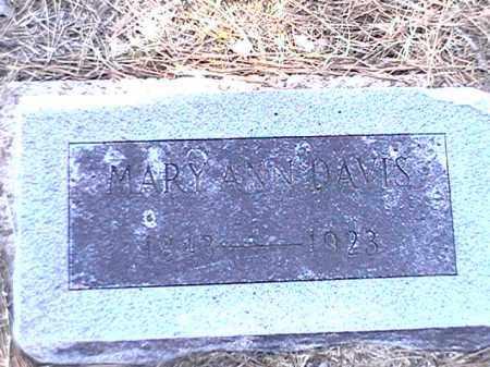 DAVIS, MARY ANN - Arkansas County, Arkansas   MARY ANN DAVIS - Arkansas Gravestone Photos
