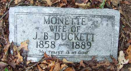 DUCKETT, MONETTE - Arkansas County, Arkansas | MONETTE DUCKETT - Arkansas Gravestone Photos