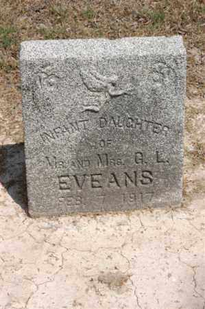 EVEANS, INFANT DAUGHTER - Arkansas County, Arkansas | INFANT DAUGHTER EVEANS - Arkansas Gravestone Photos