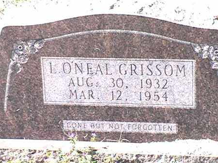 O'NEAL GRISSOM, L - Arkansas County, Arkansas | L O'NEAL GRISSOM - Arkansas Gravestone Photos