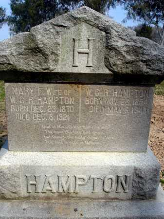 WALKER HAMPTON, MARY FRANCES - Arkansas County, Arkansas   MARY FRANCES WALKER HAMPTON - Arkansas Gravestone Photos
