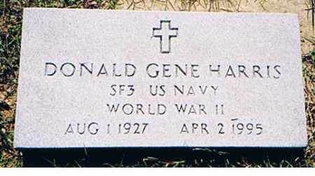 HARRIS (VETERAN WWII), DONALD GENE - Arkansas County, Arkansas | DONALD GENE HARRIS (VETERAN WWII) - Arkansas Gravestone Photos