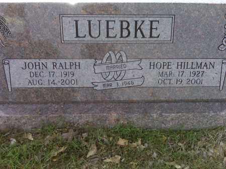 LUEBKE, JOHN RALPH - Arkansas County, Arkansas   JOHN RALPH LUEBKE - Arkansas Gravestone Photos